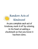 Random Acts of Kindness Slips and Tracker