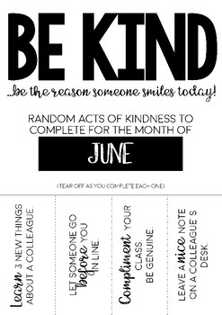 Random Acts of Kindness | Staff Wellbeing