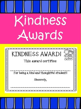 Random Acts of Kindness- Student Awards