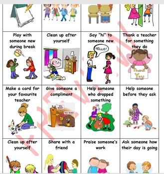 Random Acts of Kindness - Task Cards & Pupil Learning Log