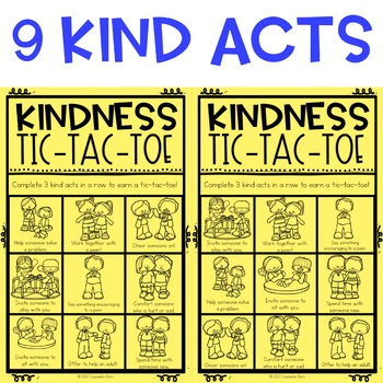 Kindness Tic Tac Toe Board #kindnessnation