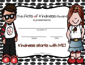 Random Acts of Kindness Tic Tac Toe