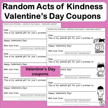 Valentine's Day Writing Activity: Random Acts of Kindness | FREE!