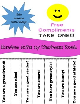 Random Acts of Kindness Week Activity Pack/School Counseling Week
