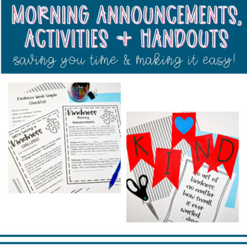 Random Acts of Kindness Week - Lessons, Bulletin Board + MUCH MORE