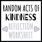 Random Acts of Kindness Worksheet