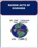 Kindness -Random Acts of Kindness, lesson plan, 3 activities-Middle School
