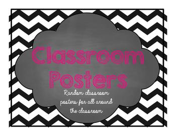 Random Classroom Chevron Posters