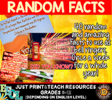 Bell Ringers ESL 40 interesting facts for teens. Growing P
