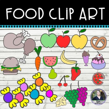 Random Food Clip Art - 25 pieces - 300 dpi