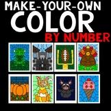 Random Goodies-Color By Code Clipart Set