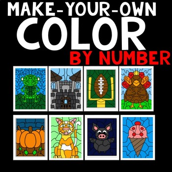 Random Goodies-Color By Code Clipart Set