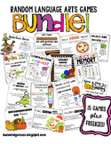 Random Language Arts Games 15 Games PLUS Exclusive Freebies BUNDLE!