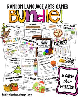 Random Language Arts Games 15 Games PLUS Exclusive Freebies BUNDLE!