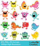 Random Monsters Digital Clip Art
