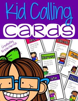 Random Name Calling Cards