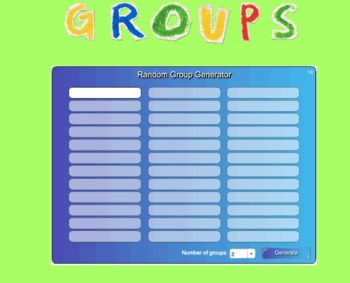 Random Name and Group Generator for SMARTBoard - Free