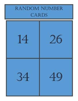Random Number Cards