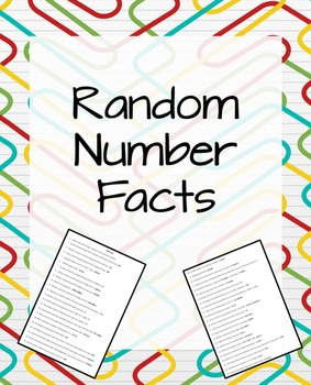 Random Number Facts
