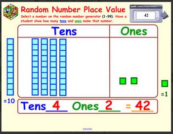 Random Number Place Value - SMARTBOARD FILE