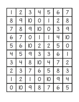 Random Number Practice 0-20