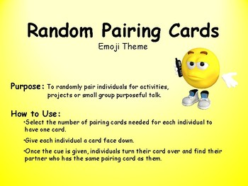 Random Pairing Cards-Emoji