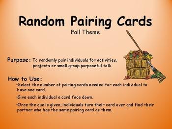 Random Pairing Cards-Fall