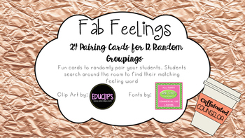 Random Pairing Cards- Feelings