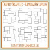 Random Rectangles Blank Graphic Organizer Layouts / Templates Clip Art Set