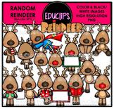 Random Reindeer Clip Art Bundle {Educlips Clipart}