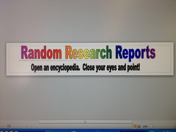 Random Research Reports
