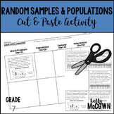 Random Samples & Populations Cut & Paste Activity