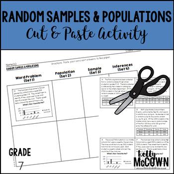 Random Samples & Populations Cut & Paste Activity