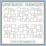 Random Squares Blank Graphic Organizer Layouts / Templates Clip Art Set