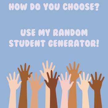 Random Student Generator Teaching Resources | Teachers Pay Teachers