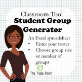 Random Student Group Generator - Excel