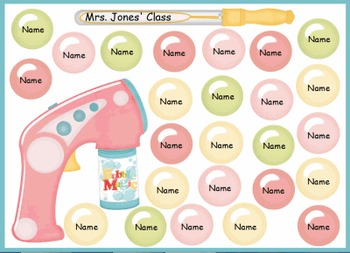 FREE Random Student Name Chooser - Bubbles