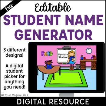 Random Student Name Picker Powerpoint | Classroom Management {Freebie}