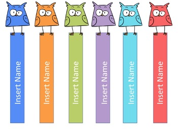Random Student Selection Sticks - Owl Themed!