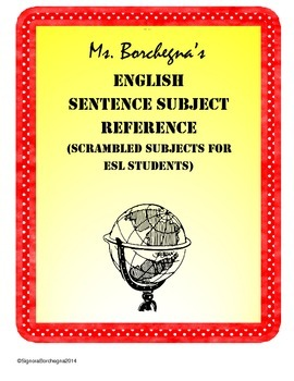 Random Subjects for Creating English ESL Sentences