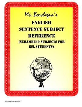 Random Subjects for Creating English ESL Sentences