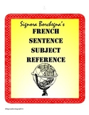 Random Subjects for Creating French Sentences
