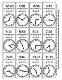 Random Telling Time - Clock Reading - Magic House Pieces -