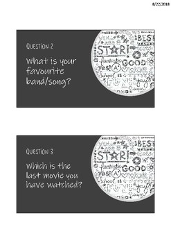 Random questions