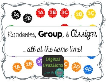 Randomize, Group, and Assign Desk Labels FREEBIE