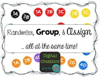 Randomize, Group, and Assign Desk Labels FREEBIE