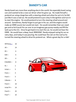 Randy's Car -- a Story for Articulation Practice