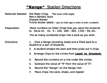 """Range"" CCSS Math Station"