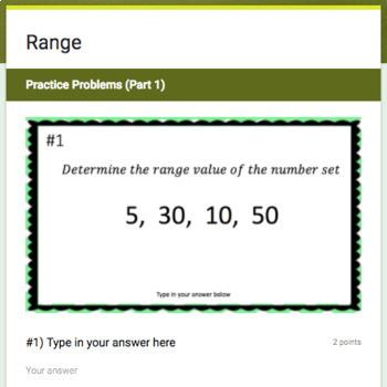 Range (Google Form & Interactive Video Lesson!)