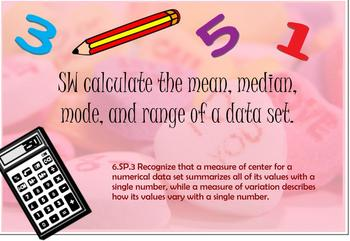 Range, Mean, Median, Mode with M&Ms